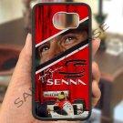 Ayrton Senna F1 legend fit for samsung galaxy S6 S 6 S VI edge black case cover