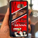 Ayrton Senna F1 legend fit for samsung galaxy S6 S 6 S VI edge+ black case cover
