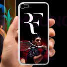 roger federer logo tennis signature fit for ipod touch 5 white case cover