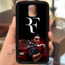 roger federer logo tennis signature fit for samsung galaxy note 4 black case cover