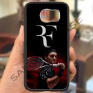 roger federer logo tennis signature fit for samsung galaxy S6 S 6 S VI edge black case cover