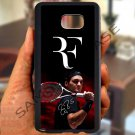 roger federer logo tennis signature fit for samsung galaxy S6 S 6 S VI edge+ black case cover