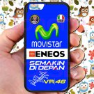 valentino rossi logo signature moto gp fit for iphone 6s black case cover