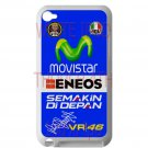 valentino rossi logo signature moto gp fit for ipod touch 4 white case cover