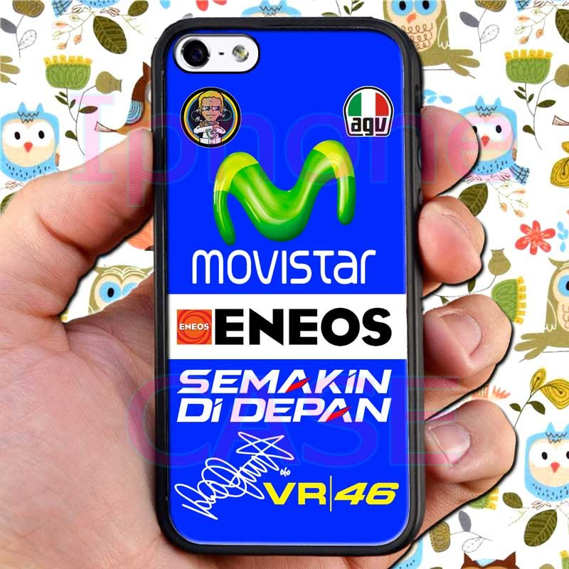 valentino rossi logo signature moto gp fit for ipod touch 6 black case cover