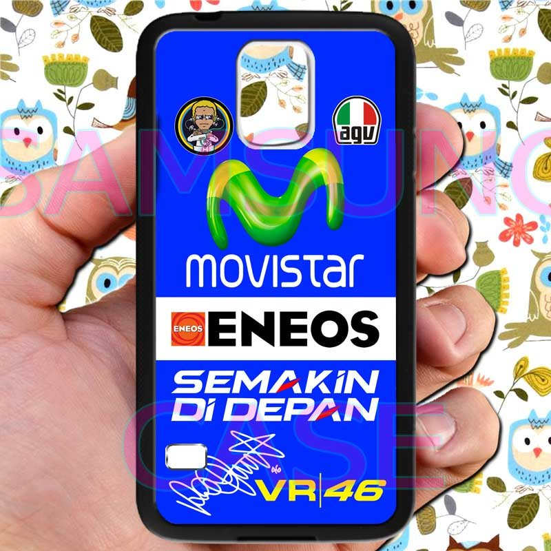 valentino rossi logo signature moto gp fit for samsung galaxy S5 S 5 S V black case cover
