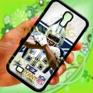 Dallas Cowboys Dez Bryant fit for samsung galaxy S4 S 4 S IV black case cover