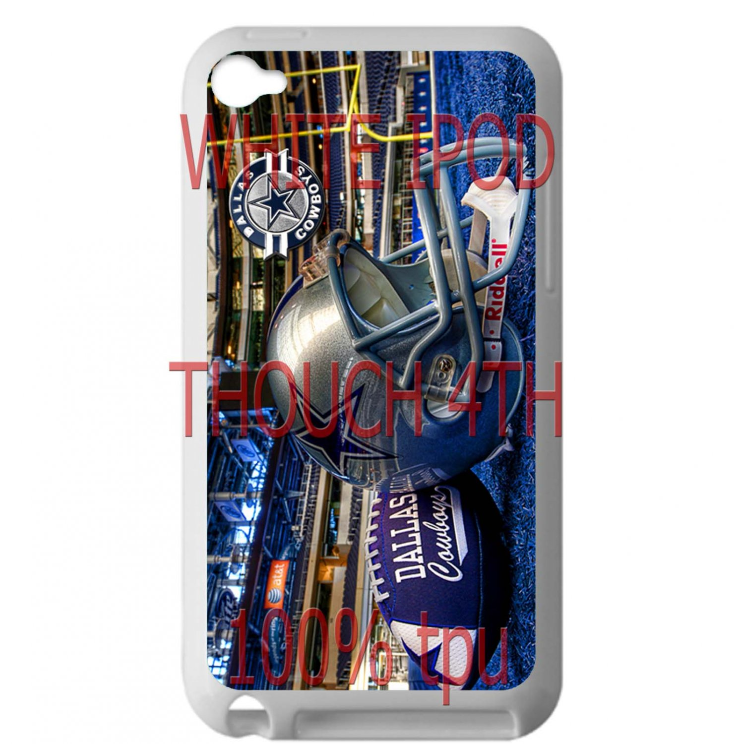 Dallas Cowboys riddell football fit for ipod touch 4 white case cover