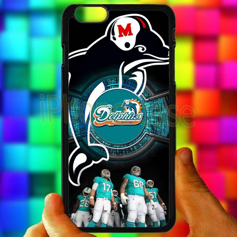 "miami dolphins ryan tannehill fit for iphone 6 plus 5.5"" black case cover"