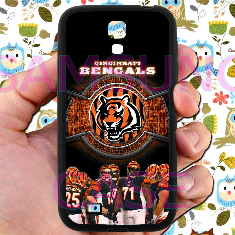 Cincinnati Bengals football a j green fit for samsung galaxy S4 S 4 S IV black case cover