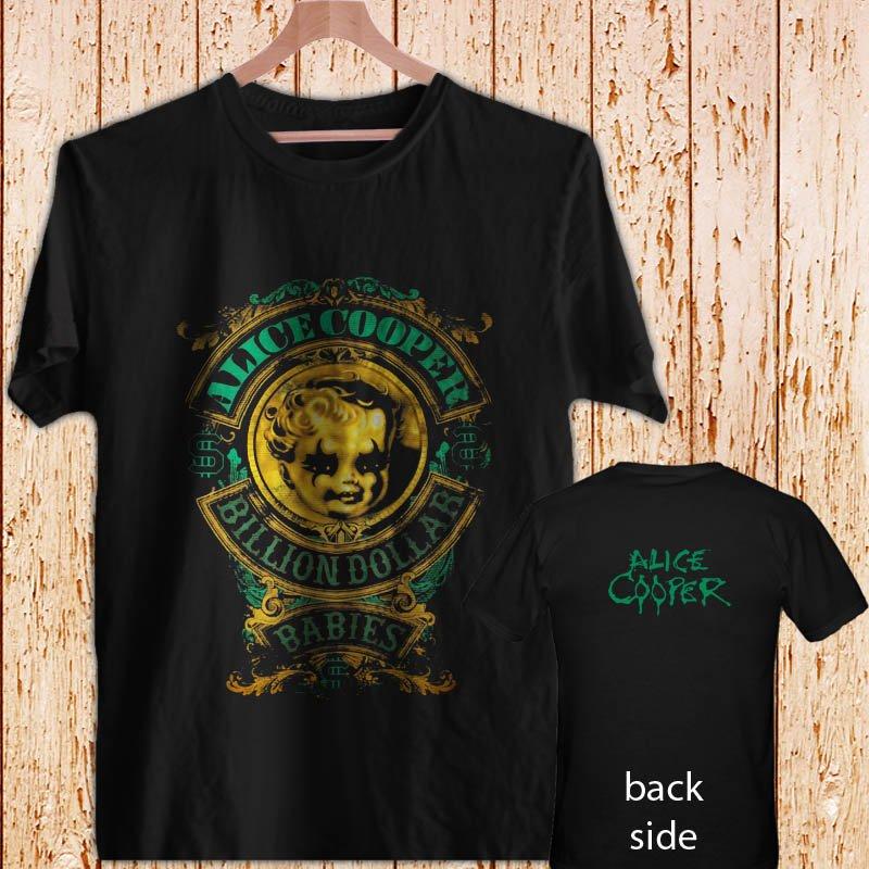 ALICE COOPER Billion Dollar Babies Crest black t-shirt tshirt shirts tee SIZE 3XL