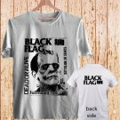 2 Side Black Flag Vintage Rock Band Logo Greg Ginn DESIGN 2 white t-shirt tshirt shirts tee SIZE M