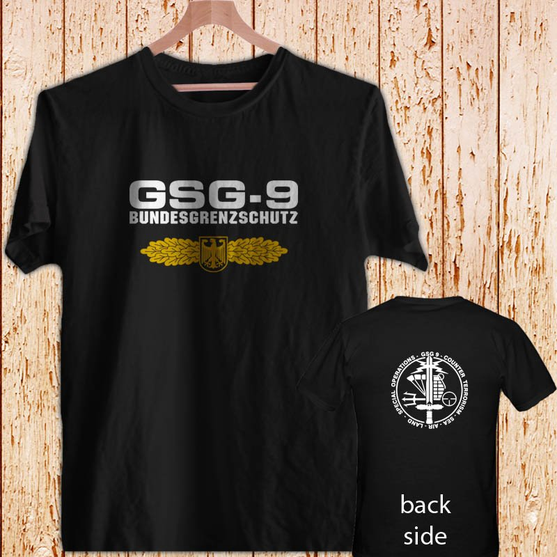 GSG 9 Germany swat Counter Terrorism Special Operations Unit black t-shirt tshirt shirts tee SIZE S