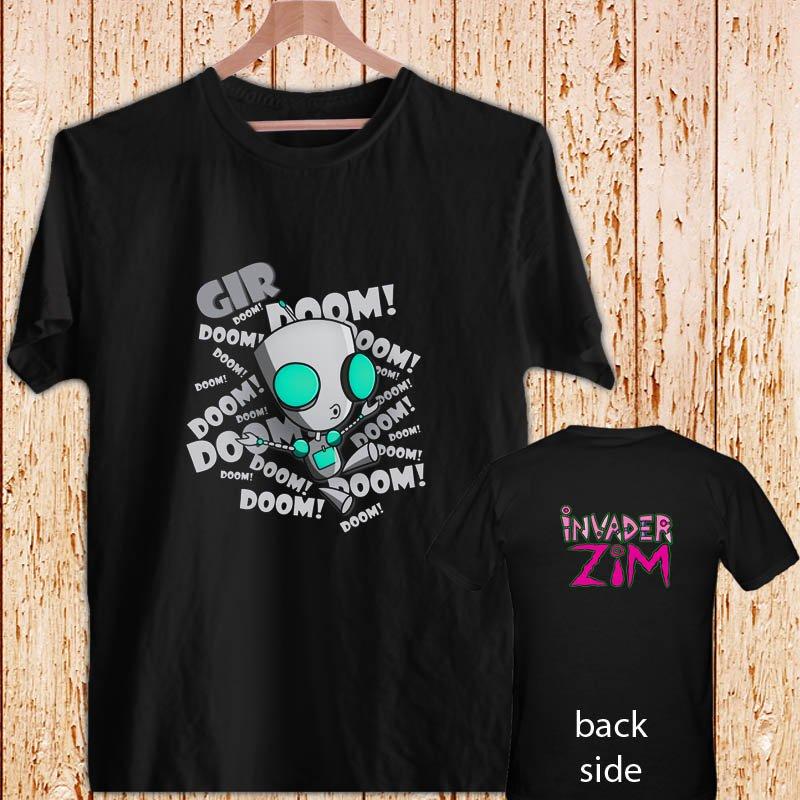 Invader ZIM Doom! Animated TV Series black t-shirt tshirt shirts tee SIZE L