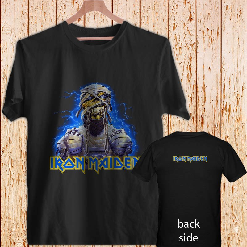 IRON MAIDEN Powerslave Mummy black t-shirt tshirt shirts tee SIZE XL