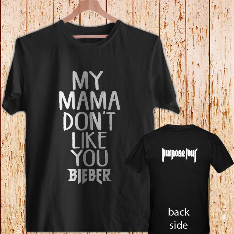 Justin Bieber Purpose DESIGN 2 black t-shirt tshirt shirts tee SIZE L
