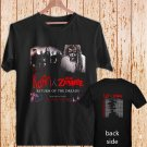 ROB ZOMBIE AND KORN RETURN OF THE DREADS 2016 black t-shirt tshirt shirts tee SIZE L