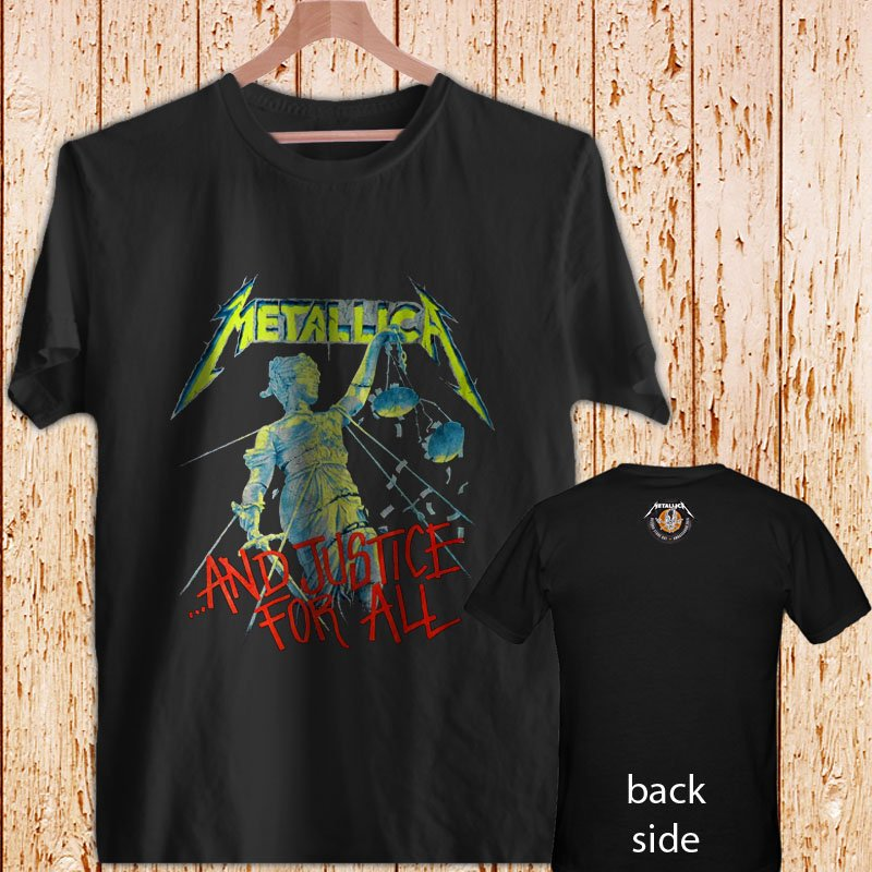 Metallica And Justice For All black t-shirt tshirt shirts tee SIZE L