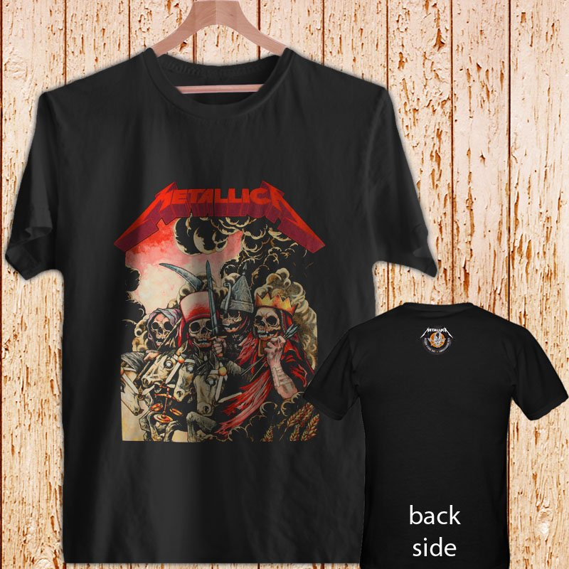 "METALLICA ""FOUR HORSEMEN"" black t-shirt tshirt shirts tee SIZE 2XL"