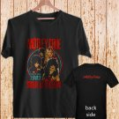 2 Side Motley Crue World Tour South At The Devil black t-shirt tshirt shirts tee SIZE L