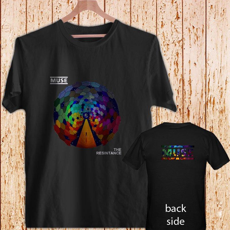 2 Side Muse The Resintance Rock Band Logo black t-shirt tshirt shirts tee SIZE S