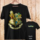 Pikachu Pokemon Hogwarts Logo Harry Potter black t-shirt tshirt shirts tee SIZE L