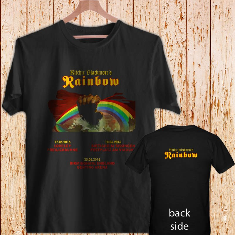 RAINBOW Monsters Rock Tour 2016 black t-shirt tshirt shirts tee SIZE M