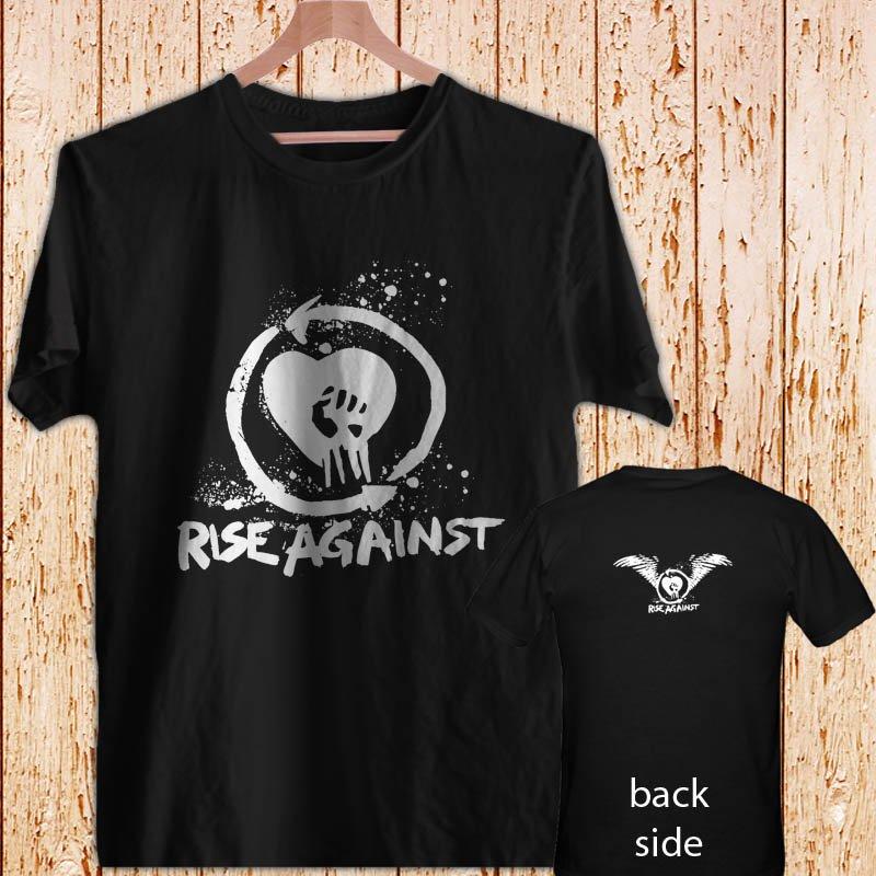 RISE AGAINST - Punk Rock black t-shirt tshirt shirts tee SIZE M