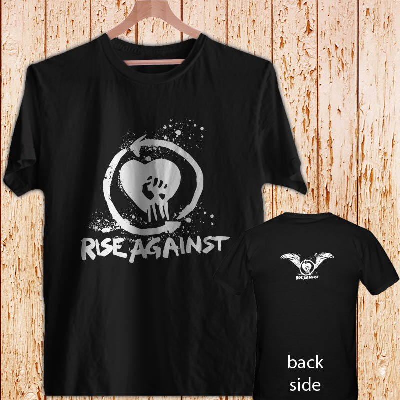 RISE AGAINST - Punk Rock black t-shirt tshirt shirts tee SIZE L