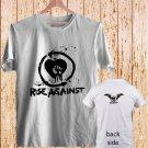 RISE AGAINST - Punk Rock white t-shirt tshirt shirts tee SIZE S