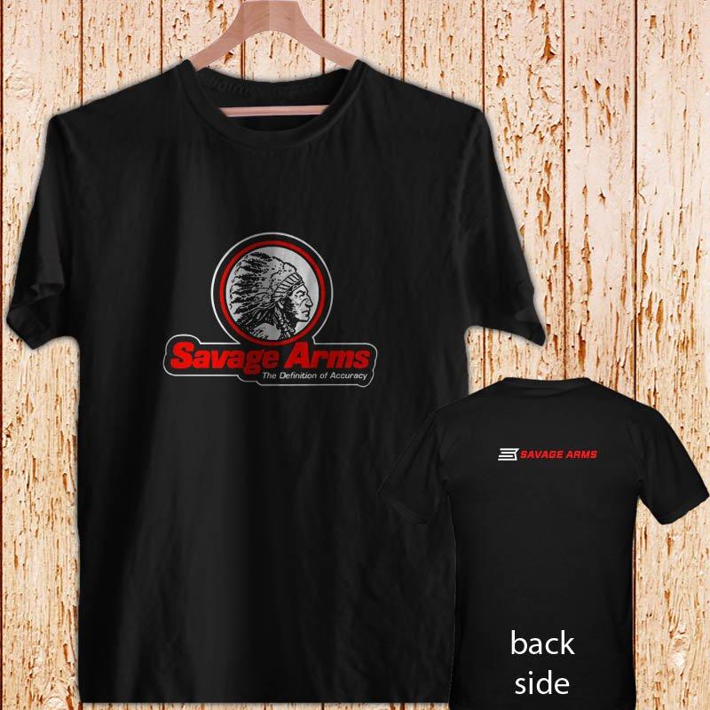 SAVAGE ARMS logo mens black t-shirt tshirt shirts tee SIZE XL