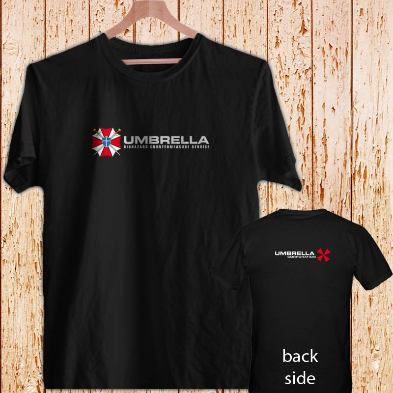 The Resident Evil Umbrella Corp pharmaceuticals Company black t-shirt tshirt shirts tee SIZE L