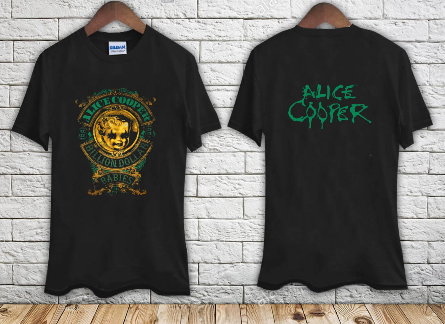 ALICE COOPER Billion Dollar Babies Crest black t-shirt tshirt shirts tee SIZE M