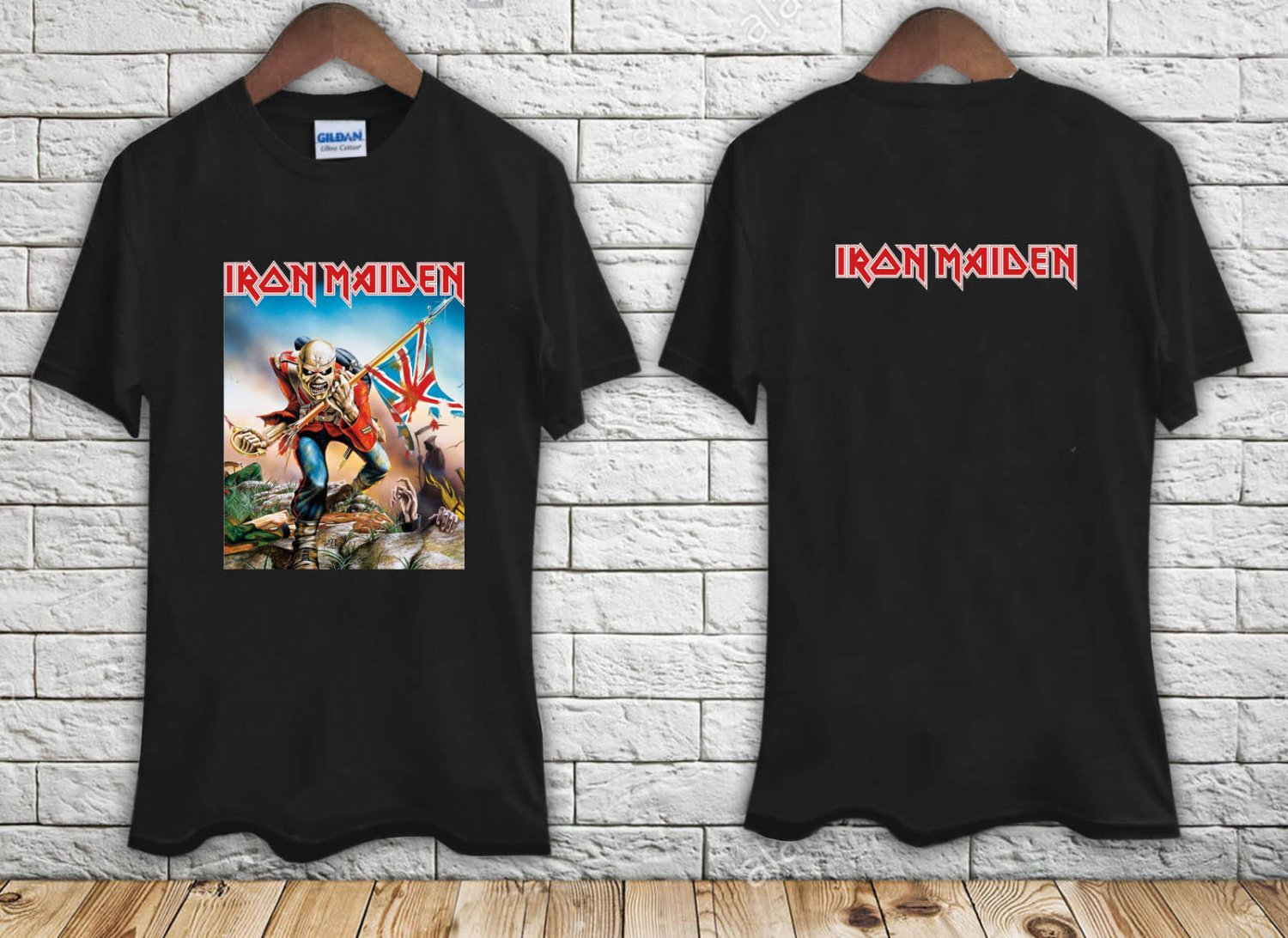 Iron Maiden Vintage Bleached black t-shirt tshirt shirts tee SIZE S