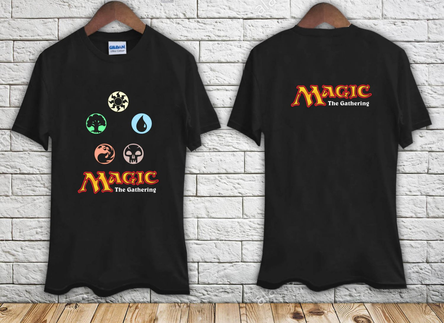 Magic The Gathering Logo black t-shirt tshirt shirts tee SIZE 2XL
