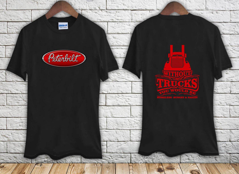 PETERBILT TRUCKER Classic Racing Logo black t-shirt tshirt shirts tee SIZE 3XL