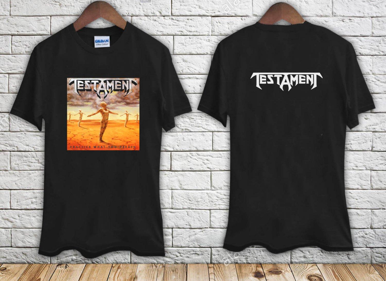 TESTAMENT PRACTICE WHAT YOU PREACH 89 THRASH MEGADETH ANTHRAX black t-shirt tshirt shirts tee SIZE S