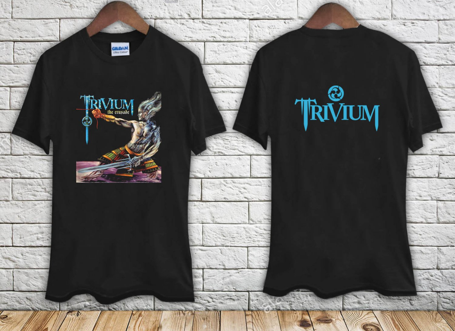 Trivium The Crusade Tour 2007 black t-shirt tshirt shirts tee SIZE 2XL