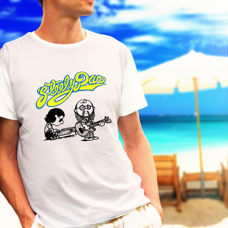 Steely Dan Pop Rock Band Music Legend white t-shirt tshirt shirts tee SIZE XL