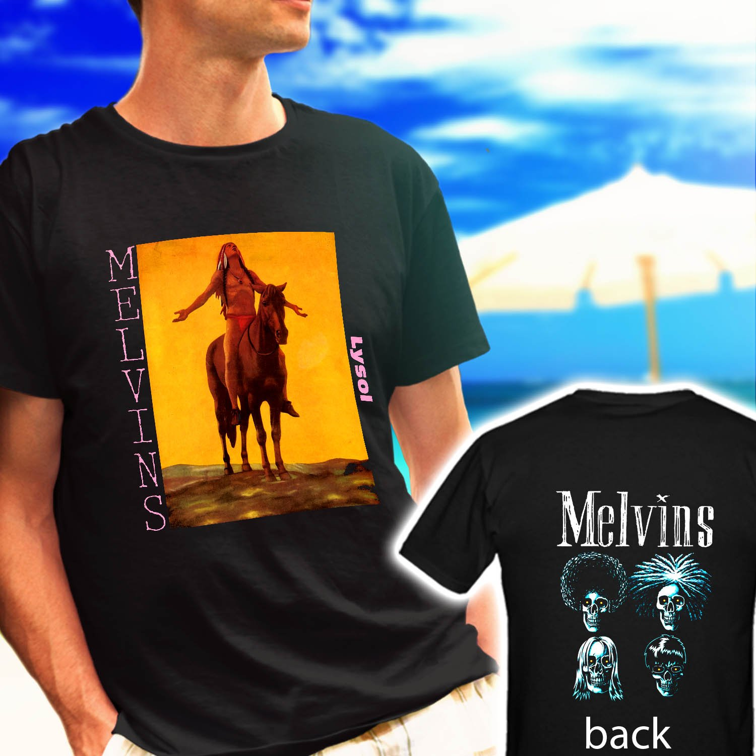 The Melvins Lysol Metal Rock Band black t-shirt tshirt shirts tee SIZE L