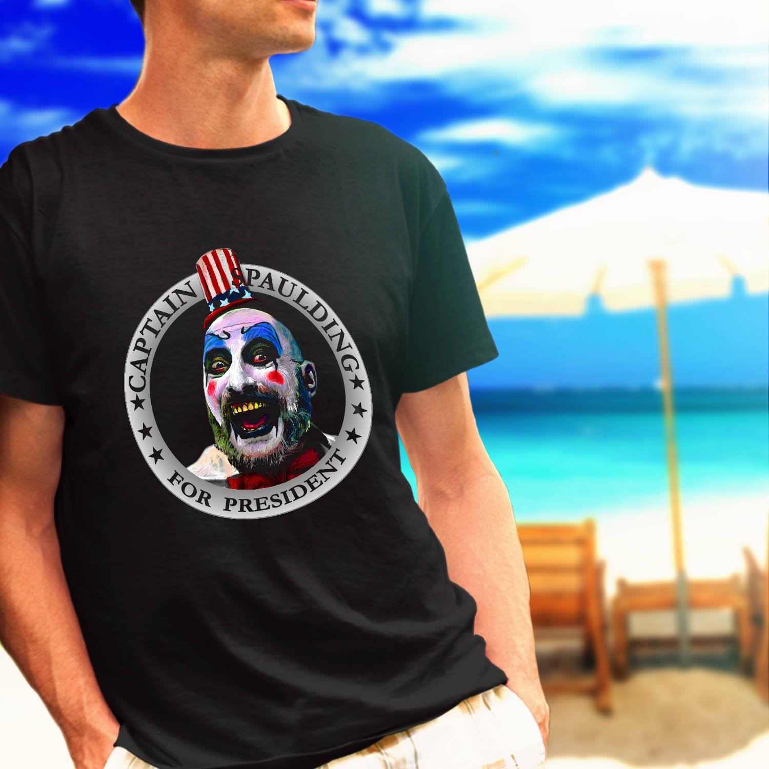 Captain Spaulding for President Rob Zombie black t-shirt tshirt shirts tee SIZE 3XL