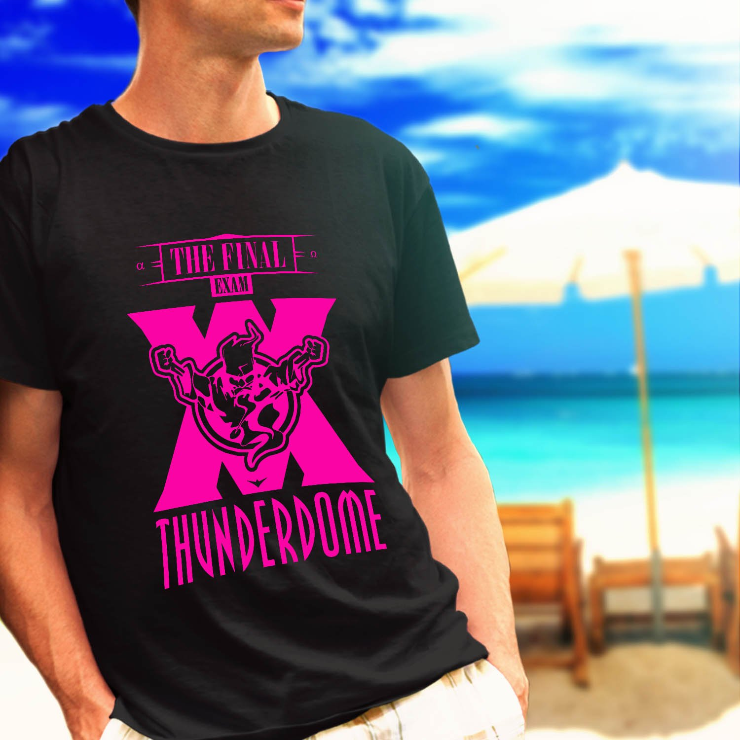 Thunderdome the final exam tour black t-shirt tshirt shirts tee SIZE S
