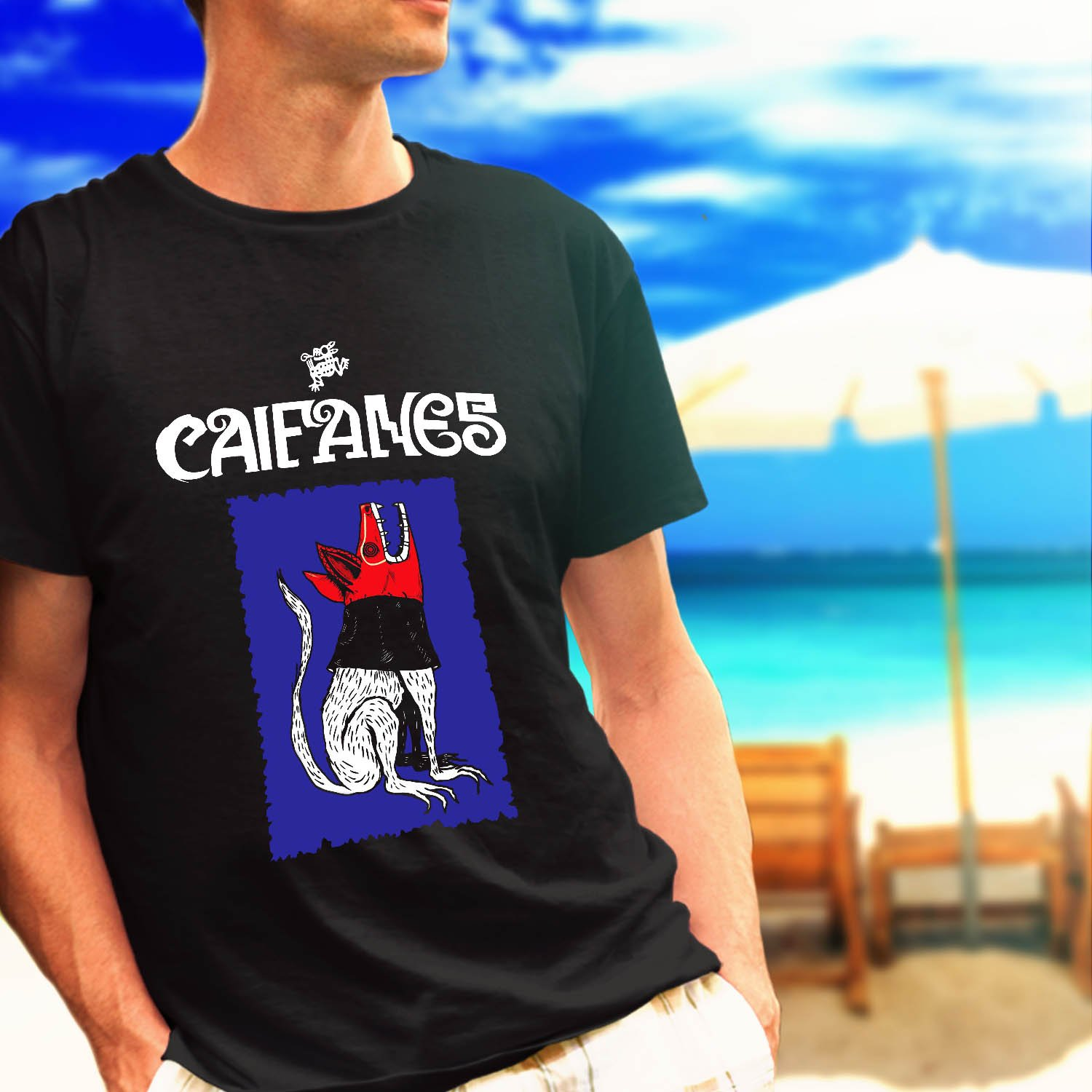 Caifanes Rock band tour concert black t-shirt tshirt shirts tee SIZE S