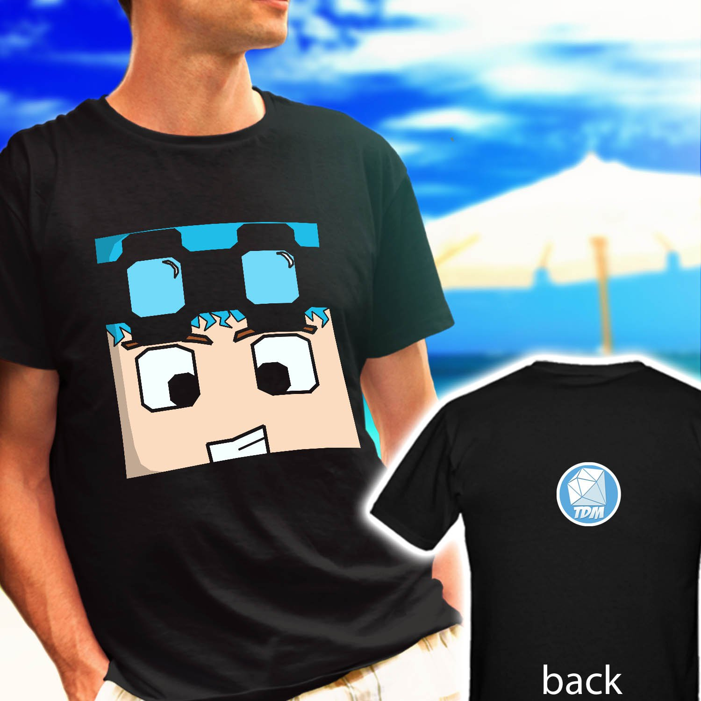 dantdm skin diamond logo black t-shirt tshirt shirts tee SIZE XL