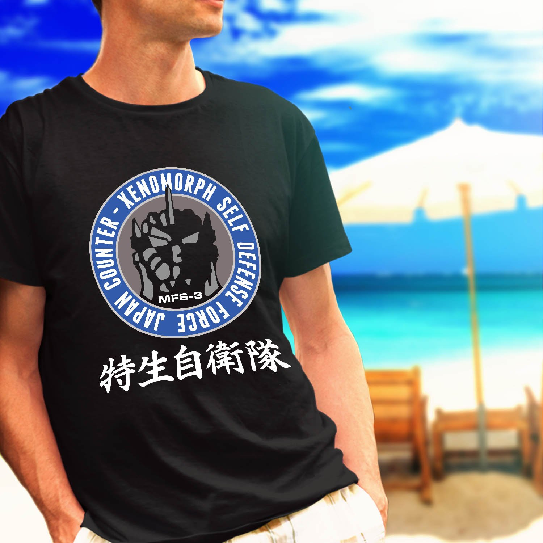 UNGCC JXSDF Japan Godzilla Mechagodzilla counter black t-shirt tshirt shirts tee SIZE XL
