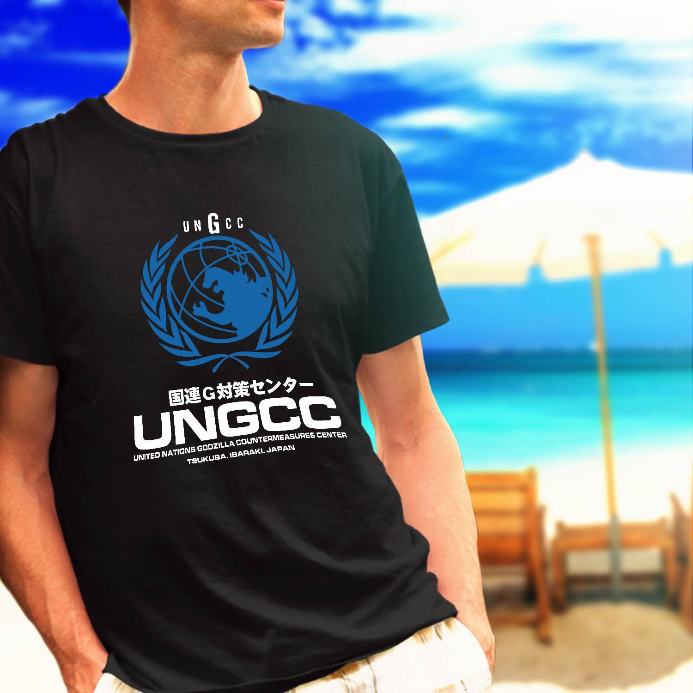 UNGCC JXSDF Japan Godzilla Mechagodzilla United Nations black t-shirt tshirt shirts tee SIZE XL