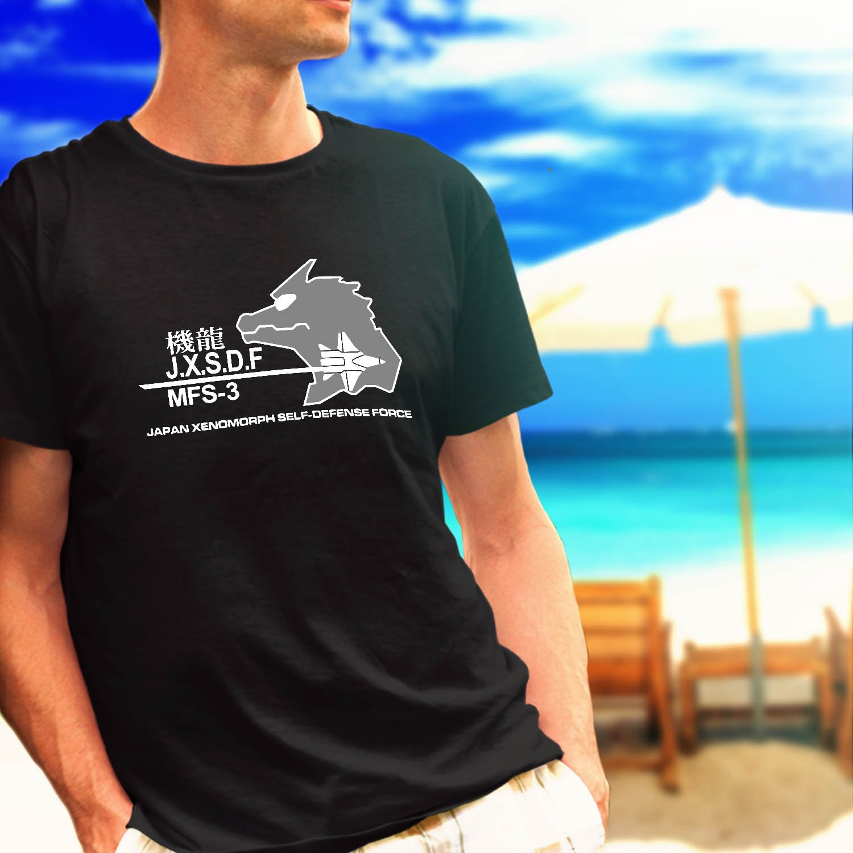 UNGCC JXSDF Japan Godzilla Mechagodzilla MSF-3 black t-shirt tshirt shirts tee SIZE XL