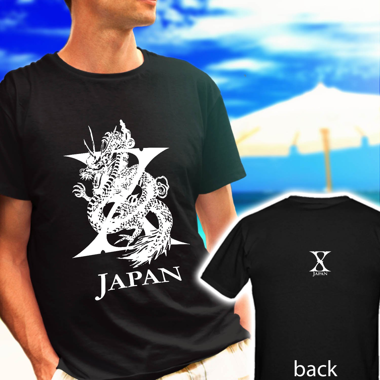 X Japan Yoshiki Toshi Hide black t-shirt tshirt shirts tee SIZE S