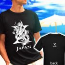 X Japan Yoshiki Toshi Hide black t-shirt tshirt shirts tee SIZE XL