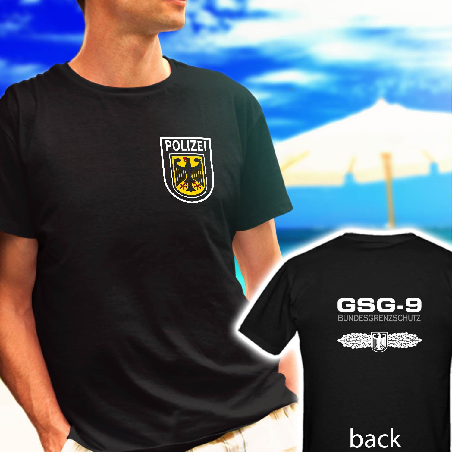 GSG 9 Germany swat Counter Terrorism Special Operations Unit black t-shirt tshirt shirts tee SIZE XL